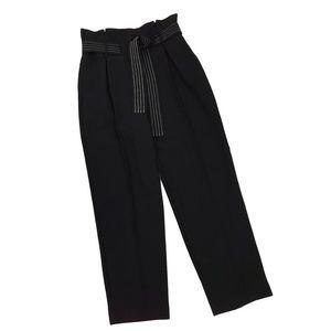 TopShop Black Stitch Belt Peg Pants High Waist